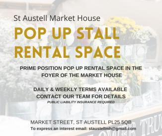 Pop Up Stall Rental Space - Available to hire